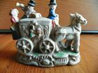 Carriage and Horse Figurine  porcelain vintage antique