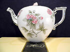 HEREND QUEEN VICTORIA GRAY TEAPOT WITH PLATINUM ,FOR SIX TEA CUPS,EXTREME RARE