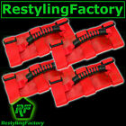 Deluxe Extreme RED Roll Bar Grab Handle 4pcs for 77-16 Jeep Wrangler JK TJ YJ CJ