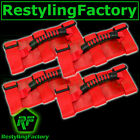 Extreme Sport RED Rear Side Bar Grab Handle 4pcs for 87-16 Jeep Wrangler JK TJ Y