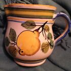 Vintage Pitcher Made In Italy Hand Painted 4 3/4