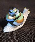 Herend Blue Baby Snail  With Gold Accents  MINT
