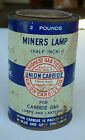 Union Carbide Miners Lamp Half Inch Two Pound Can Empty