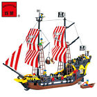 Enlightenment&Pirate Series:308 Children's Toys Lego Toys Black Pear Pirate Ship