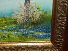 OLD VINTAGE! Mirich Oil Cnv: TEXAS Mail Box Blooming Bluebonnet Spring Landscape