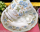 ROYAL ALBERT TEA CUP AND SAUCER BLUE GOWN PATTERN ROSE CHINTZ TEACUP