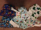 6 Happy Flute All in One Bamboo/cotton blend square tab cloth diapers