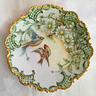 SUPERB PH LEONARD TK THUN GOLD ENCRUSTED CABINET PLATE, c.1898, BIRDS, AUSTRIA
