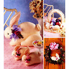 Bunny Rabbits Stuffed Plush Toys Basket and Wreath Craft Sewing Pattern Easter