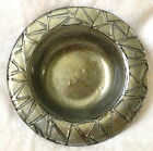 Hathcoat Studio green gold Art Glass Roman Bowl 85 inches fused glass 7 Avaible