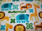 Jungle Words Snuggle Cotton Flannel Fabric BTY Jungle Animals