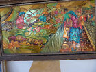 Relief Art painting Copper/Brass Hand Made Fruit Market