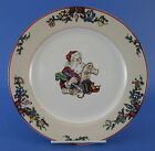 Fitz and Floyd Santa's List Dinner Plate Christmas Santa Claus