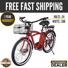 X treme SCOOTERS Newport Electric Beach Cruiser ELITE Bicycle Red