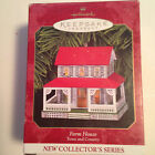 Hallmark 1999 Farm House Christmas Ornament 1st In Town & Country Series