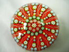 LARGE PERTHSHIRE PAPERWEIGHT MILLEFIORI CARTWHEEL TWISTED SPOKES