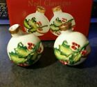 Fitz and Floyd Noel Classique Ornament Salt and Pepper Shakers Holly Berries