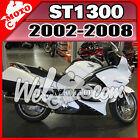 Welmoto ABS Fairing Fit ST1300 2002-2008 02-08 Pan-European White Black H13W18