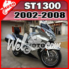 Welmoto ABS Fairing Fit ST1300 2002-2008 02-08 Pan-European Silver Black H13W19