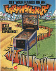 1989 WILLIAMS EARTHSHAKER! PINBALL FLYER