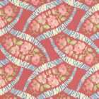 RJR Fabrics Bon Bon Bebe 2243 01 Pink Floral On Red Yardage By Robyn Pandolph