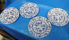 Meissen Porcelain Old German Blue and White Salad Plates 5 Total