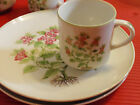 4 VINTAGE CUPS AND SAUCERS / PLATES  JAPAN FLORAL