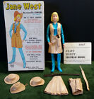 Jane West Movable Cowgirl by MARX Over 11 Tall Poly Plastic Fully Jointed