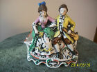 Courting Couple  Vintage Porcelain Hand Painted Ash Tray/Cigarette Holder