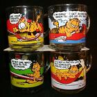 Set of 4 Different McDonalds Garfield & Odie Mugs/Cups 1978 Jim Davis Excellent