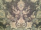 NEW TAHARI f/ queen 3PC QUILT SET FLORAL SCROLL MEDALLION GRAY BLUE LIGHT TEAL