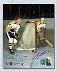 Bobby Orr & Gerry Cheevers Boston Bruins Dual Signed Legends 11x14 Photo GNR COA