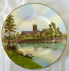 HAND PAINTED ARTIST-SIGNED ROYAL WORCESTER CABINET PLATE, WORCESTER CATHEDRAL