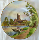 HAND PAINTED ARTIST-SIGNED ROYAL WORCESTER CABINET PLATE, GLOUCESTER CATHEDRAL