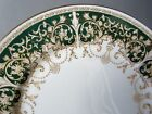 Aynsley Royal Court Service Dinner Plates Set of 8 Eight Raised Gold Encrusted