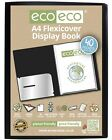 48 x eco-eco A4 100% Recycled 40 Pocket / 80 View Black Flexicover Display Book