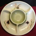 California Pottery Lane And Company Chip And Dip Serving Tray 3060 Green Creme