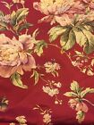 Waverly Forever Yours Red Floral Decorator Fabric 120
