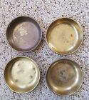 FOUR antique old BRADLEY and HUBBARD Brass nut dishes, bowls or ASHTRAY'S Signed