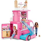 Barbie Pop Up Camper RV Vehicle Converts Three Story Play Set Seat Belts Pool