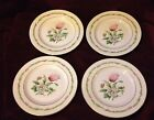Haviland Garden Flowers China Set of 4 Small Plates Floral Gold Trim