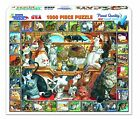 THE WORLD OF CATS 1000 Piece White Mountain Puzzle **NEW** SEALED**