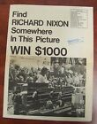 Find Richard Nixon Political Newspaper Presidential Campaign Original