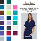 Cherokee Workwear V Neck Womens Nurse Scrub Top Style 4700 NEW Free Shipping