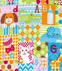Baby Big Patchwork Snuggle Cotton Flannel Fabric BTY