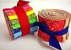 25 inch Yummy Twist Jelly Roll 100 cotton fabric quilting strips