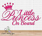 Little Princess On Board Baby Girl Daughter Vinyl Car Wall Decal Sticker