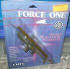 1988 Ertl Force One Hughes US Army Ah 64 Apache Attack Helicopter Diecast 8+ MOC