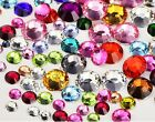 Crystal Flatback Acrylic Rhinestones Beads Nail Art Craft 3MM 4MM 5MM 6MM 7MM 8M