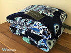 Cynthia Rowley Beach Towels Tropical Oversized Navy White Fish Set of 2 Fish New
